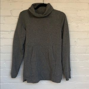 Grey turtleneck athletic sweatshirt from Lululemon